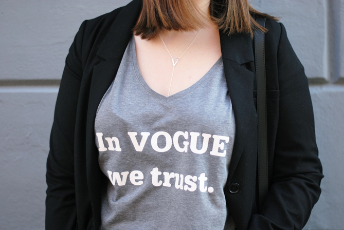 in vogue we trust shirt