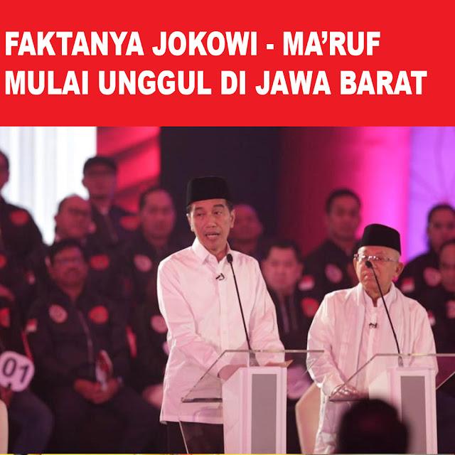 Faktanya Jokowi - Ma'ruf Mulai Unggu di Jawa Barat