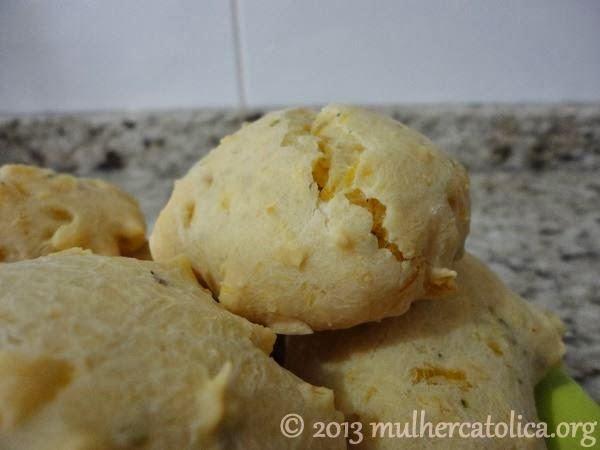 Pão de mandioca, sem glúten e sem lactose