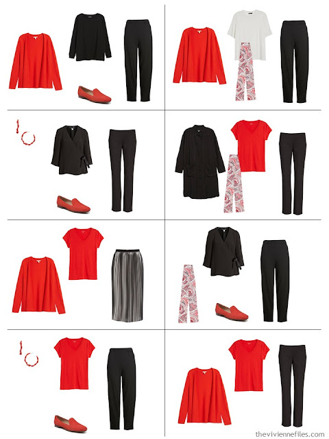 8 outfits using Tomato Red accents