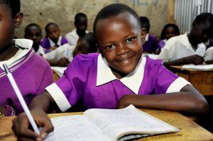 African girl child in school