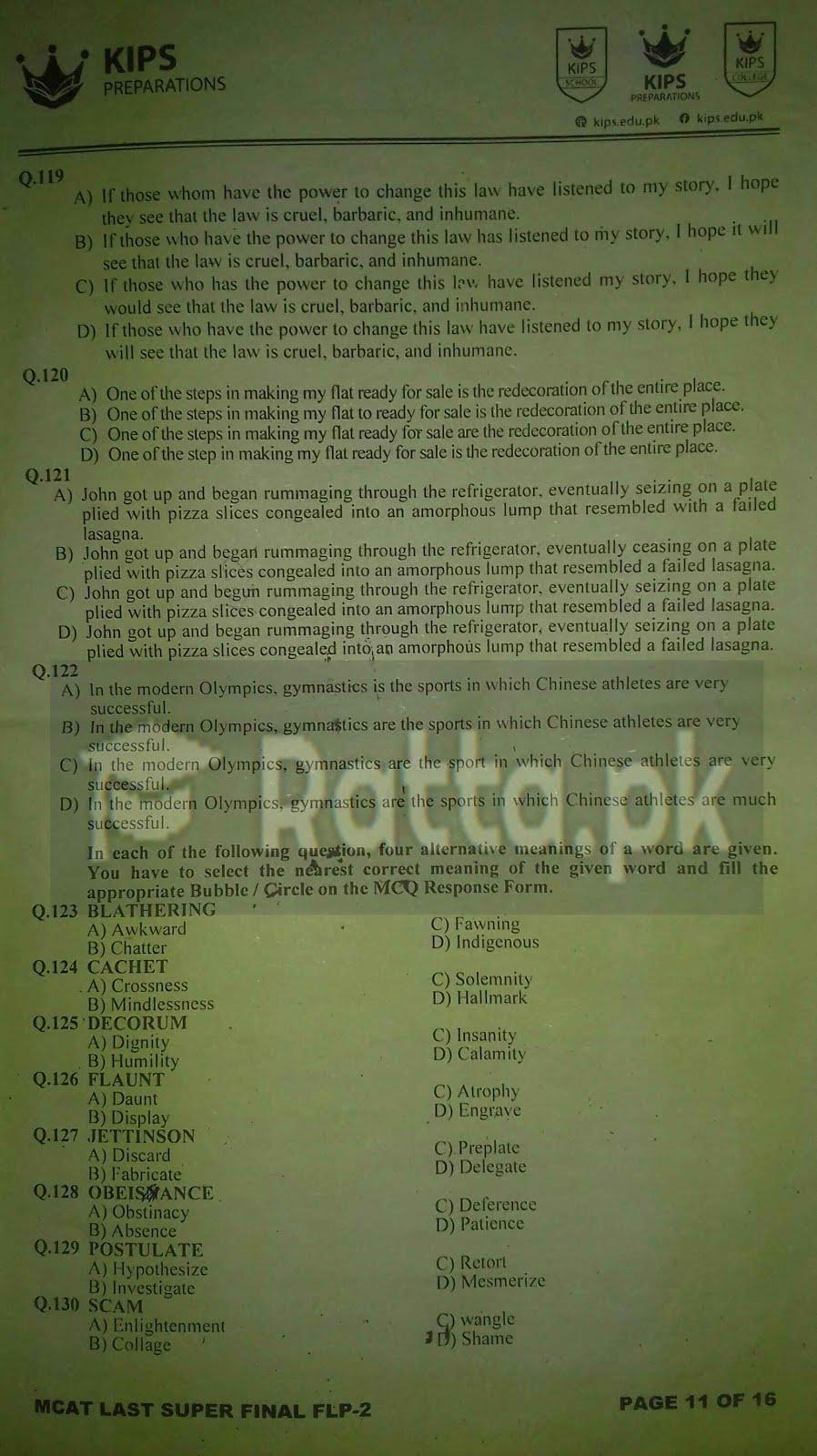2 KIPS MCAT English Full Length Paper-2