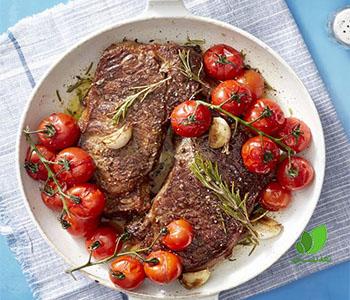 وصفة شريحة لحم كيتو