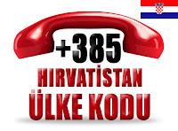 +385 Hırvatistan ülke telefon kodu