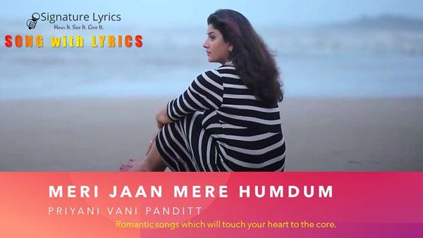 Meri Jaan Mere Humdum Lyrics - Priyani Vani | Valentine Song