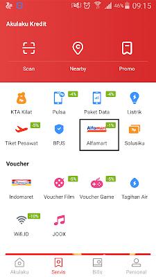 cara menukarkan kupon gratis dari akulaku dengan voucher alfamart