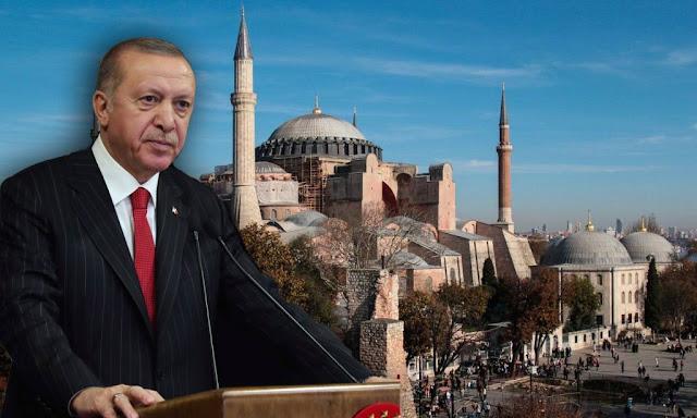 Ερντογάν για Αγιά Σοφιά: Κανείς δεν θα μας πει τι θα κάνουμε