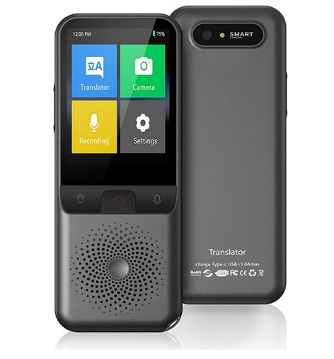 Watersino Portable Two Way Instant Voice Translator Device