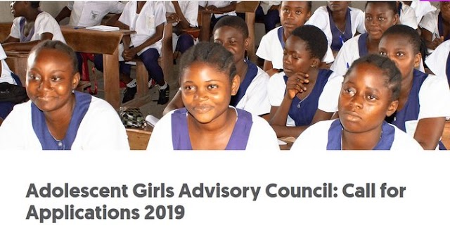 Adolescent Girls Advisory Council: Call for Applications 2019