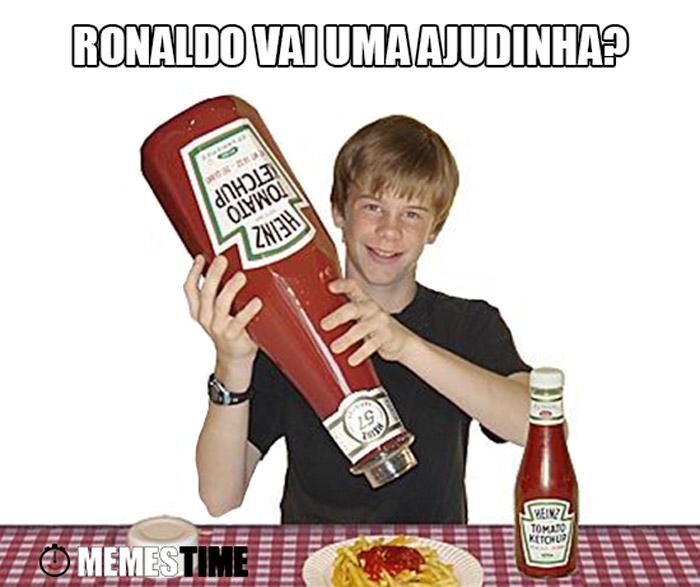 Meme Ketchup & Cristiano Ronaldo – Ronaldo vai uma ajudinha?