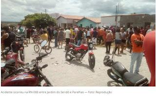 Entre Parelhas e Jardim do Seridó, homem morre e duas pessoas ficam feridas em acidente na RN-088