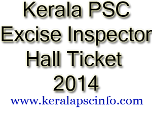 Download Excise Inspector Hall ticket
