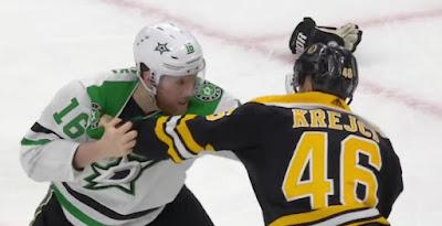 hockey nhl fight bruins stars