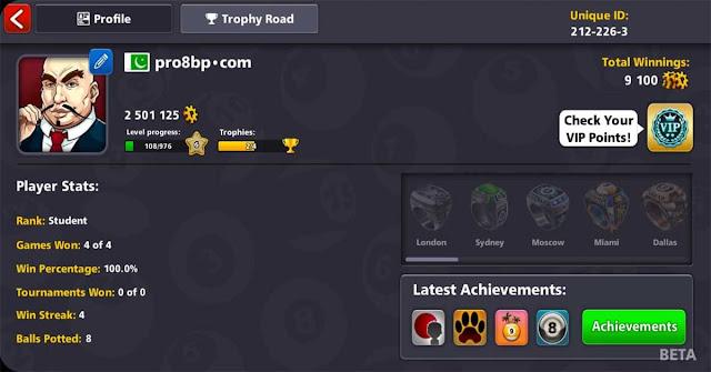 Level 6 Vip Diamond 20 legendary cue