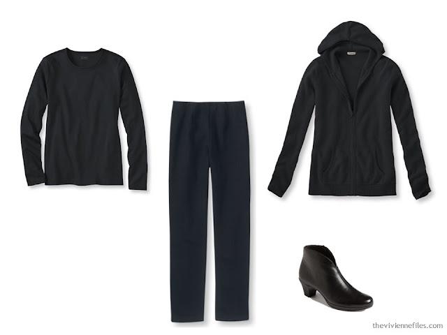 Black foundation capsule wardrobe