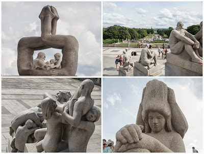 Esculturas de la zona del monolito del parque de Vigelan en Oslo