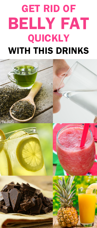 Get Rid of Belly Fat Quickly With This Drinks