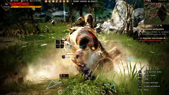 Combate contra Goblin Soldado de Elite Black Desert Online Prestige Edition