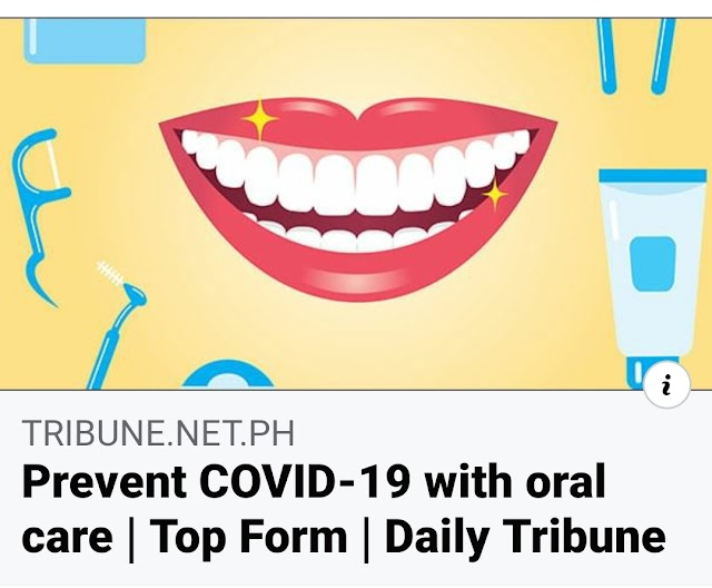 Prevent COVID-19 With Oral Care (Daily Tribune)