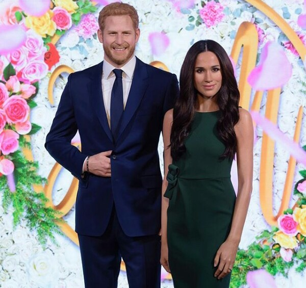 Waxwork figures of Meghan Markle and Prince Harry unveiled at Madame Tussauds 10 days before Royal Wedding