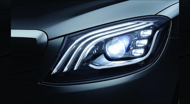 Hệ thống đèn trước Mercedes S450L Star 2019