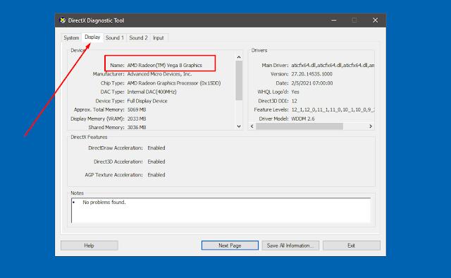 Cara Cek Jenis VGA Laptop atau Komputer Tanpa Aplikasi