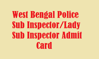 West Bengal Police Lady Sub Inspector Admit Card 3