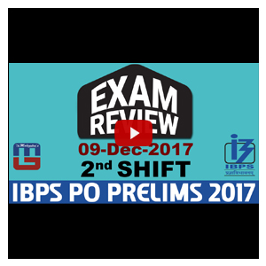 Exam Review With Cut Off | IBPS Clerk Pre 2017 | 9th Dec - 2nd Shift