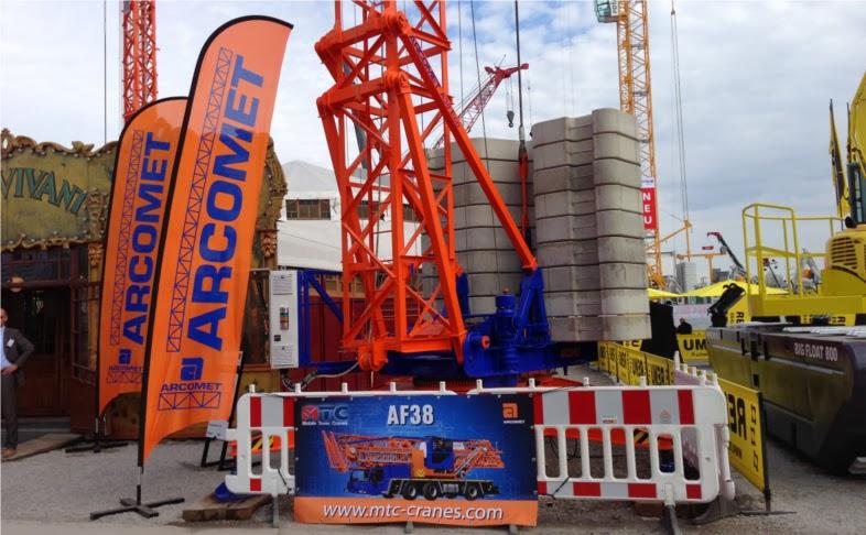 arcomet af38 mobile tower crane