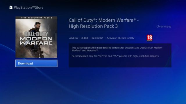 Call of Duty: Warzone receives a new 4K texture pack on PS5, PS4 Pro and Xbox