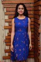 Pallavi Dora Actress in Sleeveless Blue Short dress at Prema Entha Madhuram Priyuraalu Antha Katinam teaser launch 005.jpg