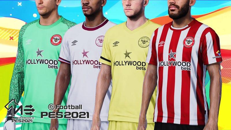 Brentford FC 2021-2022 Kits For eFootball PES 2021