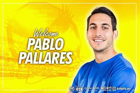 Biodata Pablo Pallares Pemain Import Baharu Kedah 2018