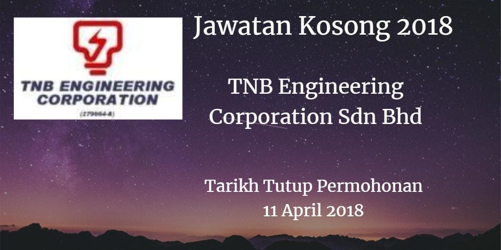 Jawatan Kosong TNB Engineering Corporation Sdn Bhd 11 April 2018