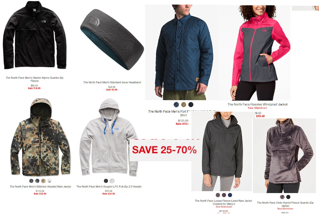 3935985be Up to 70% off Select The North Face Hoodies and Jackets + Free ...
