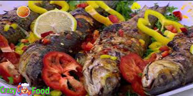 سمك مشوى بالزيت والليمون