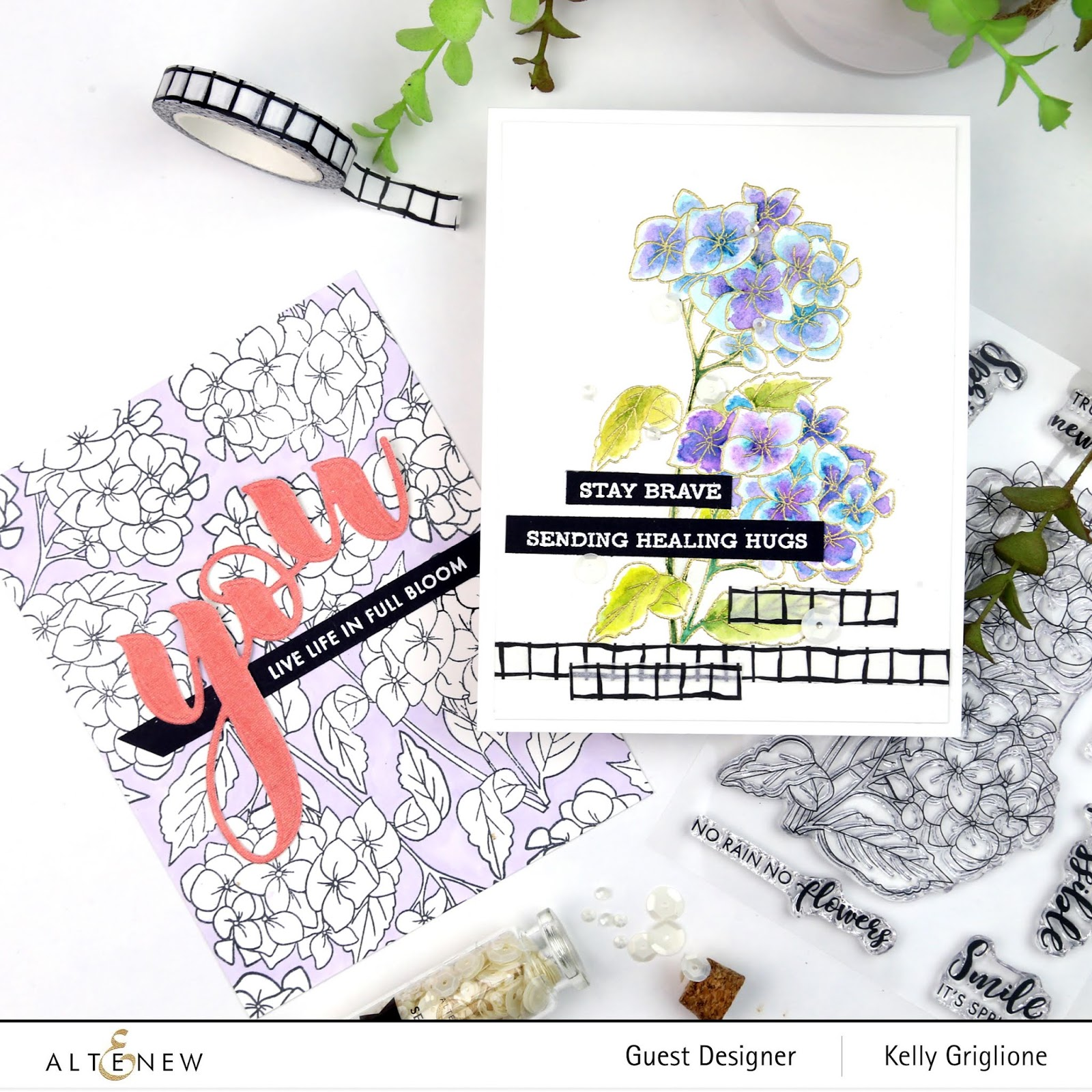 Notable Nest Altenew Paint A Flower Hydrangea Release Blog Hop