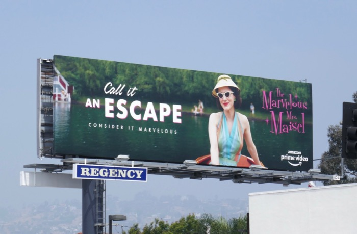 Mrs Maisel season 2 Call it an Escape Emmy FYC billboard