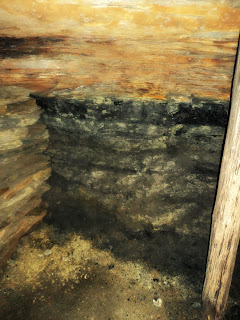 Carvão e Rocha Oxidada, na Mina de Visitação, em Criciúma