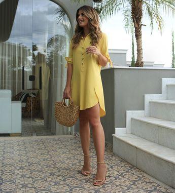 Looks de verão vestido amarelo
