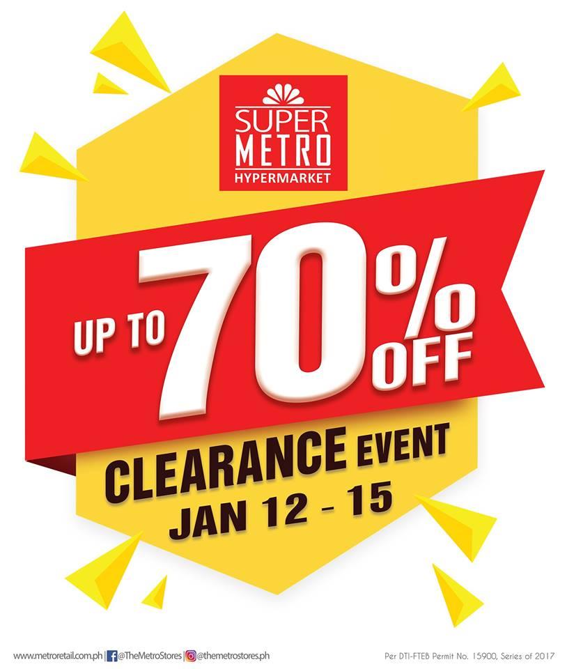 Manila Shopper Super Metro Hypermarket Clearance Sale