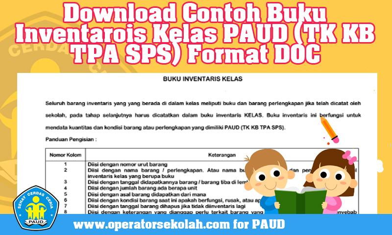 Download Contoh Buku Inventarois Kelas PAUD (TK KB TPA SPS) Format DOC.jpg