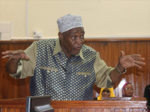 former Likoni MP Masoud Mwahima who passed away on Tuesday morning at 78 years