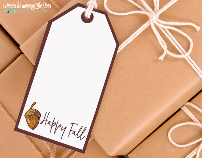 Fall Gift Tags