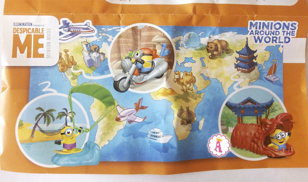 Kinder Maxi Миньоны путешествие вокруг света 2019