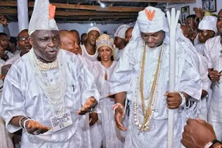 Ooni Of Ife [Right] In Action, At Itapa Temple