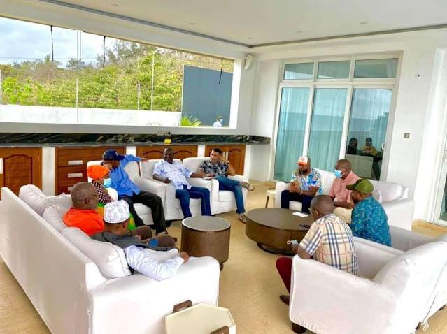 Raila and coast leaders in Mombasa photo