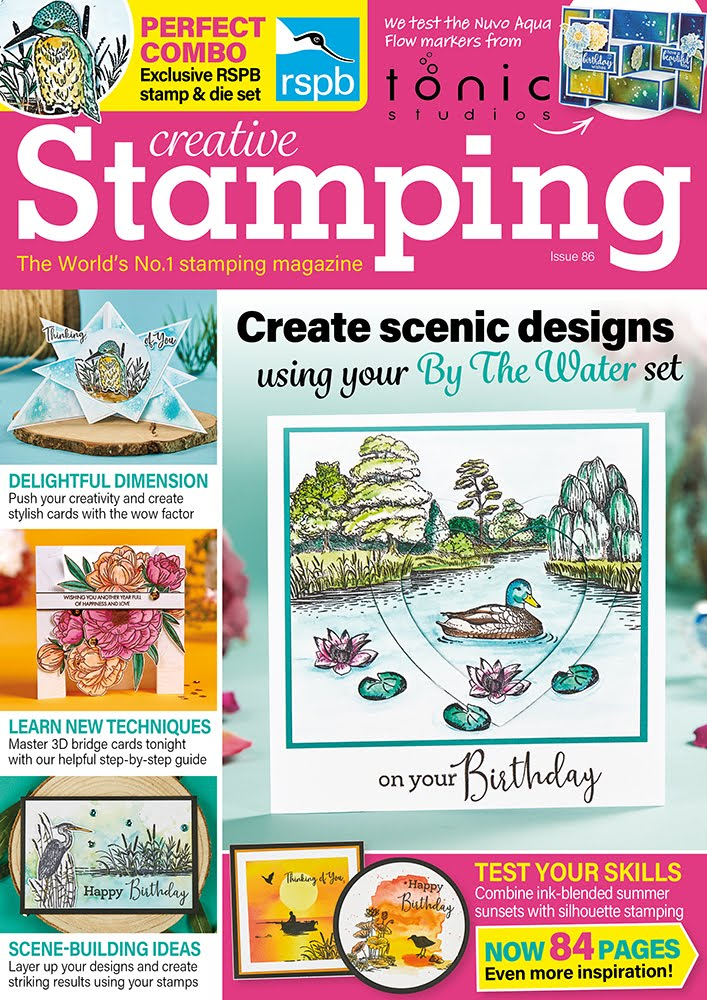 I was delighted to be in print again in  Creative Stamping Magazine