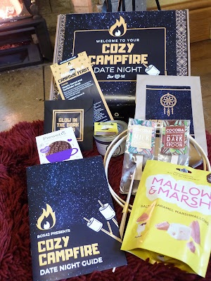 A close up of the contents of the Cosy Campfire Box