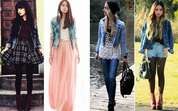 Moda Feminina A Jaqueta Jeans Virou Hit Inspire Se Nos